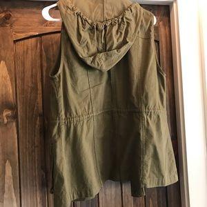 Green hooded vest